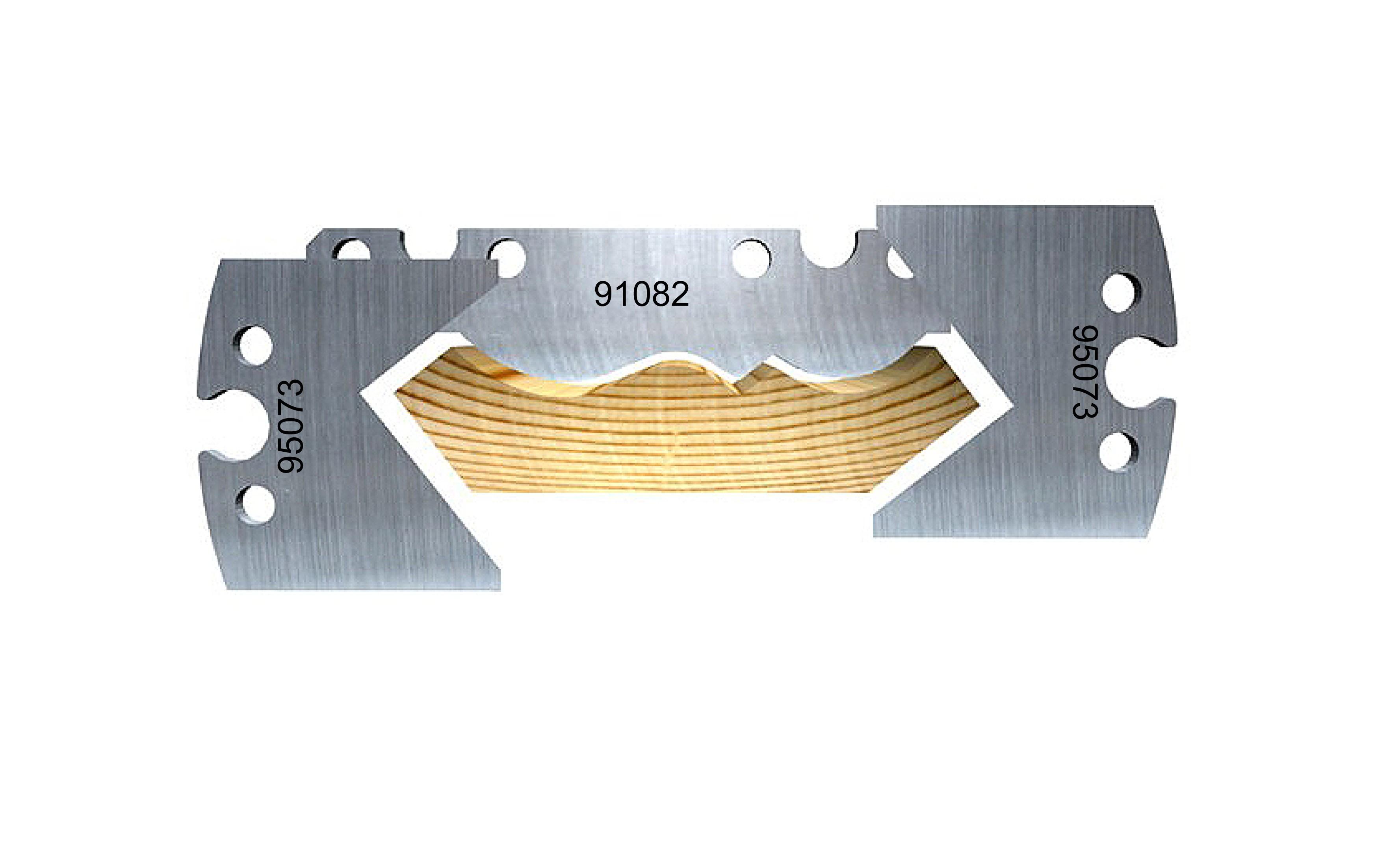 Swan neck soffit moulding, USA, 80 mm