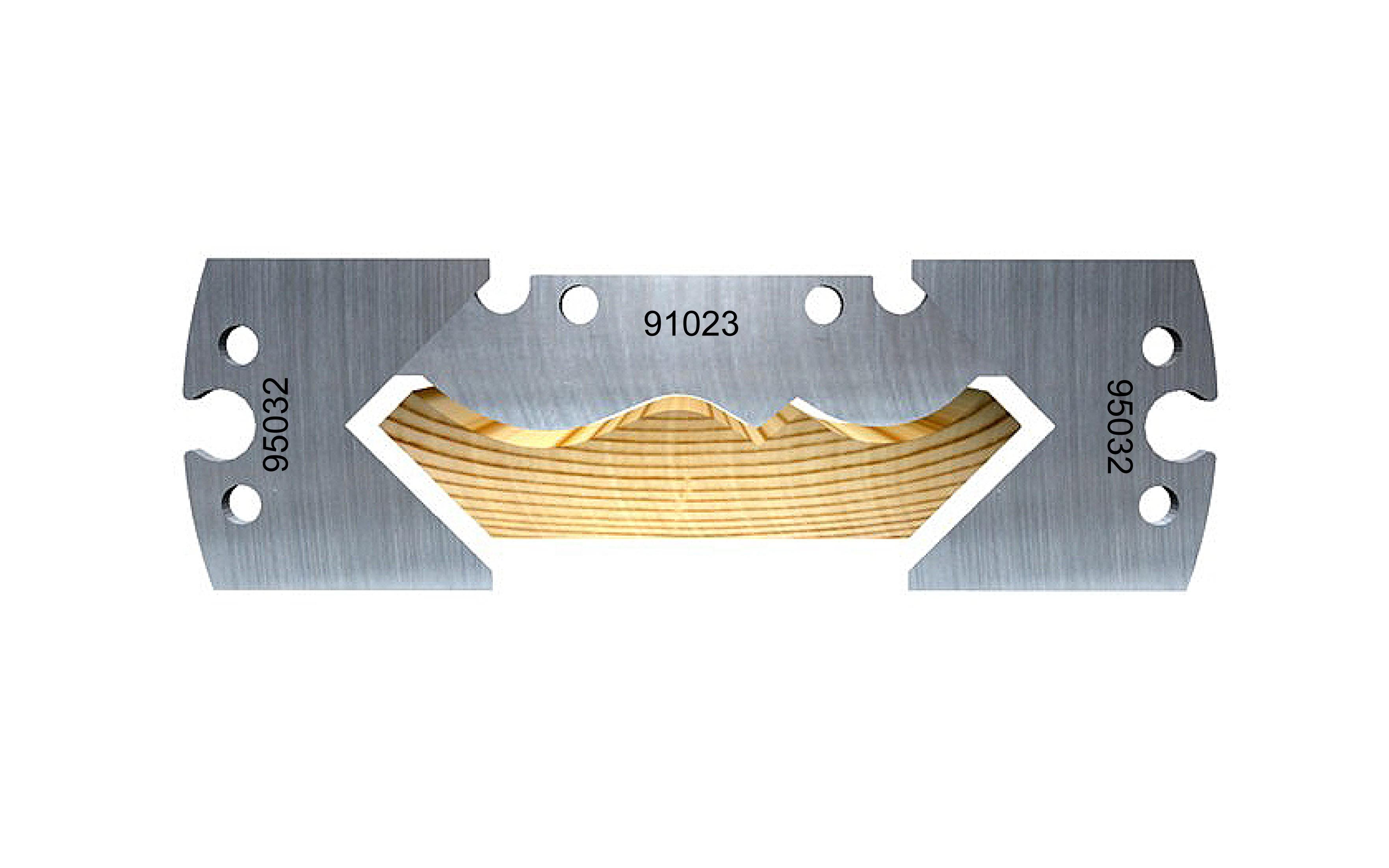 Swan neck soffit moulding, 95 mm